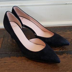 J Crew Lucie suede pumps J8205 black heels
